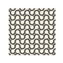 Shutterstock Wave Chevron Grey Small Satin Scarf (square)