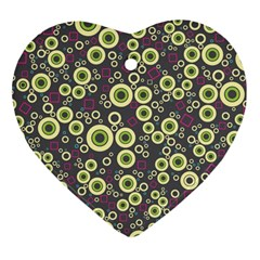 Ring Circle Plaid Green Pink Blue Heart Ornament (two Sides) by Alisyart