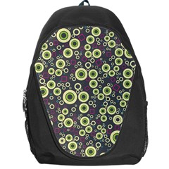 Ring Circle Plaid Green Pink Blue Backpack Bag by Alisyart