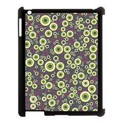 Ring Circle Plaid Green Pink Blue Apple Ipad 3/4 Case (black) by Alisyart