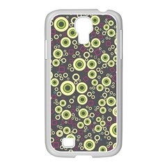 Ring Circle Plaid Green Pink Blue Samsung Galaxy S4 I9500/ I9505 Case (white) by Alisyart