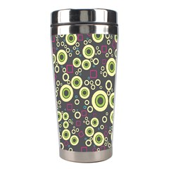 Ring Circle Plaid Green Pink Blue Stainless Steel Travel Tumblers by Alisyart