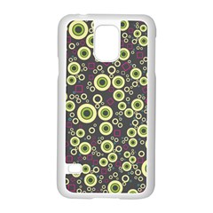 Ring Circle Plaid Green Pink Blue Samsung Galaxy S5 Case (white)