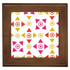 Spectrum Styles Pink Nyellow Orange Gold Framed Tiles by Alisyart