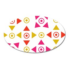 Spectrum Styles Pink Nyellow Orange Gold Oval Magnet
