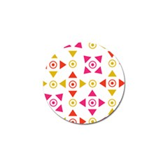 Spectrum Styles Pink Nyellow Orange Gold Golf Ball Marker by Alisyart