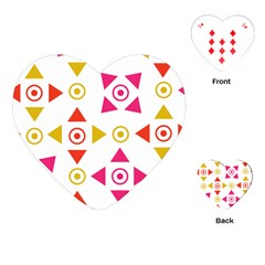 Spectrum Styles Pink Nyellow Orange Gold Playing Cards (heart)
