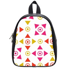Spectrum Styles Pink Nyellow Orange Gold School Bags (small)