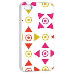 Spectrum Styles Pink Nyellow Orange Gold Apple Iphone 4/4s Seamless Case (white) by Alisyart