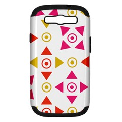 Spectrum Styles Pink Nyellow Orange Gold Samsung Galaxy S Iii Hardshell Case (pc+silicone) by Alisyart