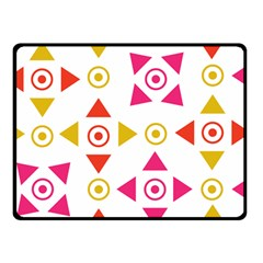 Spectrum Styles Pink Nyellow Orange Gold Double Sided Fleece Blanket (small)  by Alisyart