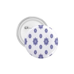 Snow Blue White Cool 1 75  Buttons