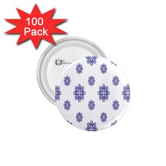 Snow Blue White Cool 1 75  Buttons (100 Pack)  by Alisyart