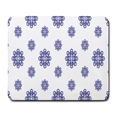 Snow Blue White Cool Large Mousepads by Alisyart