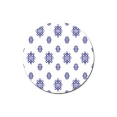 Snow Blue White Cool Magnet 3  (round) by Alisyart
