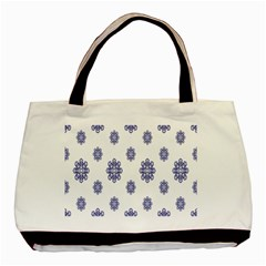 Snow Blue White Cool Basic Tote Bag