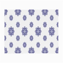Snow Blue White Cool Small Glasses Cloth (2 Side) by Alisyart