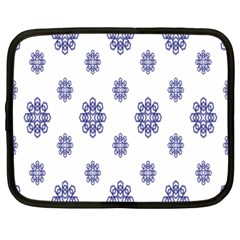 Snow Blue White Cool Netbook Case (large) by Alisyart