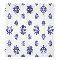 Snow Blue White Cool Shower Curtain 66  X 72  (large)  by Alisyart