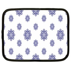 Snow Blue White Cool Netbook Case (xxl)  by Alisyart