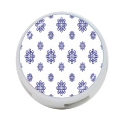 Snow Blue White Cool 4 Port Usb Hub (one Side) by Alisyart