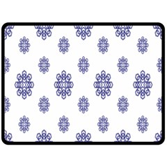 Snow Blue White Cool Fleece Blanket (large)