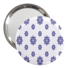 Snow Blue White Cool 3  Handbag Mirrors