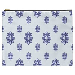 Snow Blue White Cool Cosmetic Bag (xxxl)  by Alisyart
