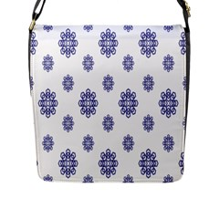 Snow Blue White Cool Flap Messenger Bag (l)  by Alisyart