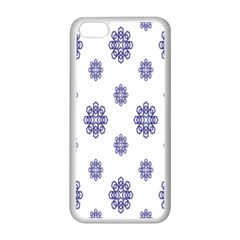 Snow Blue White Cool Apple Iphone 5c Seamless Case (white) by Alisyart