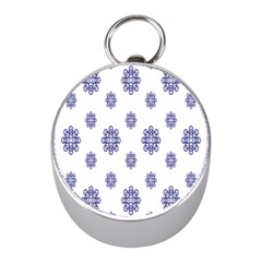Snow Blue White Cool Mini Silver Compasses by Alisyart