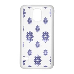 Snow Blue White Cool Samsung Galaxy S5 Case (white)