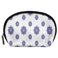 Snow Blue White Cool Accessory Pouches (large)  by Alisyart