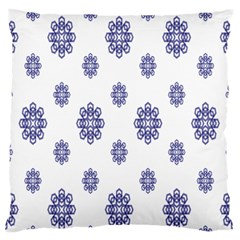 Snow Blue White Cool Standard Flano Cushion Case (two Sides)