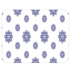 Snow Blue White Cool Double Sided Flano Blanket (medium)  by Alisyart