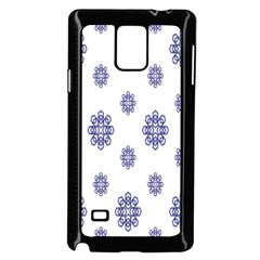 Snow Blue White Cool Samsung Galaxy Note 4 Case (black) by Alisyart