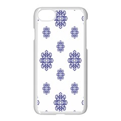 Snow Blue White Cool Apple Iphone 7 Seamless Case (white) by Alisyart