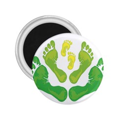 Soles Feet Green Yellow Family 2 25  Magnets by Alisyart