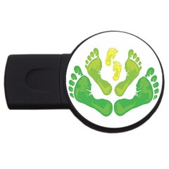 Soles Feet Green Yellow Family Usb Flash Drive Round (2 Gb)