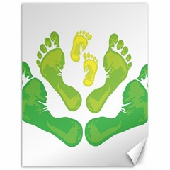 Soles Feet Green Yellow Family Canvas 12  X 16   by Alisyart