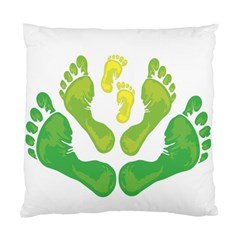 Soles Feet Green Yellow Family Standard Cushion Case (two Sides) by Alisyart