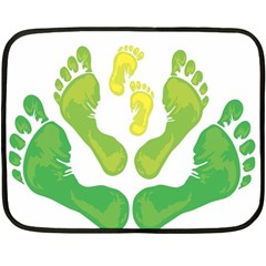 Soles Feet Green Yellow Family Fleece Blanket (mini) by Alisyart