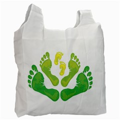 Soles Feet Green Yellow Family Recycle Bag (one Side)