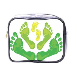 Soles Feet Green Yellow Family Mini Toiletries Bags by Alisyart