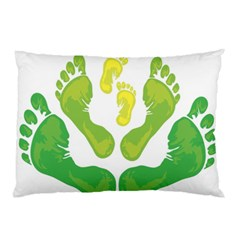 Soles Feet Green Yellow Family Pillow Case (two Sides) by Alisyart