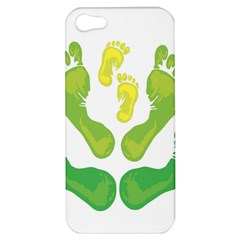 Soles Feet Green Yellow Family Apple Iphone 5 Hardshell Case by Alisyart