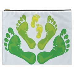 Soles Feet Green Yellow Family Cosmetic Bag (xxxl)