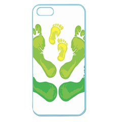 Soles Feet Green Yellow Family Apple Seamless Iphone 5 Case (color) by Alisyart