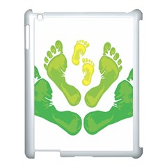 Soles Feet Green Yellow Family Apple Ipad 3/4 Case (white) by Alisyart