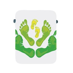 Soles Feet Green Yellow Family Apple Ipad 2/3/4 Protective Soft Cases